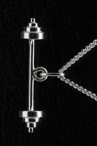 Zilveren Halter ketting hanger - groot