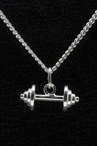 Zilveren Halter ketting hanger - klein