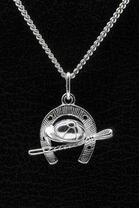 Zilveren Paardenhoef ketting hanger