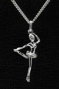 Zilveren Kunstschaatsen ketting hanger