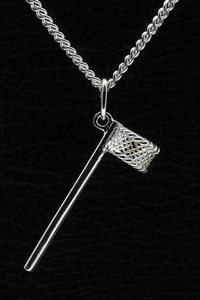 Zilveren Korfbal standaard ketting hanger