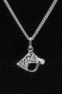 Zilveren Paardenhoofd ketting hanger