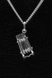 Zilveren Slee ketting hanger