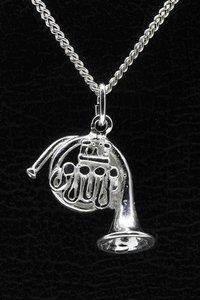 Zilveren Waldhoorn ketting hanger