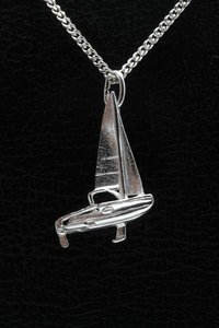 Zilveren Zeilboot ketting hanger - kajuit