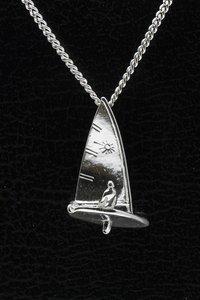 Zilveren Zeilboot Laser ketting hanger