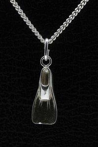 Zilveren Zwemvlies ketting hanger