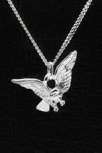 Zilveren Arend ketting hanger