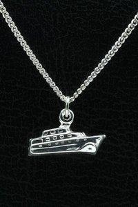 Zilveren Boot ketting hanger - cruiser