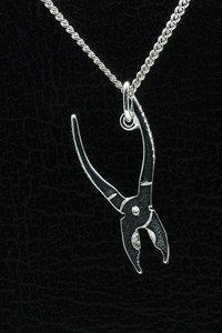 Zilveren Combinatietang ketting hanger