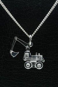 Zilveren Dragline graafmachine ketting hanger
