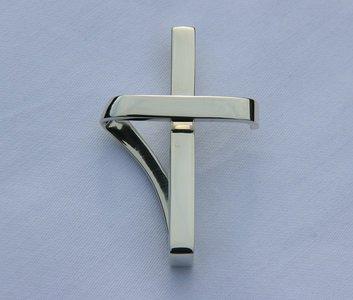 Zilveren Ringkeeper Cross ketting hanger - groot