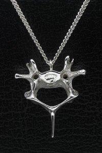 Zilveren Ruggenwervel ketting hanger