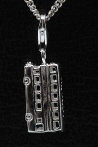 Zilveren Dubbeldekker bus hanger en/of bedel