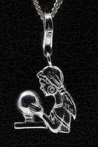 Zilveren Waarzegster hanger en/of bedel