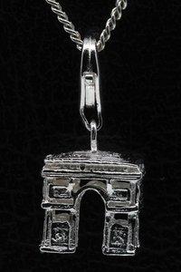 Zilveren Champs Elysees Parijs hanger én bedel