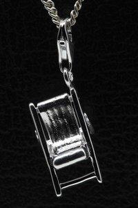 Zilveren Ligstoel hanger én bedel