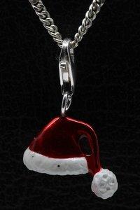 Zilveren Kerstmuts hanger én bedel