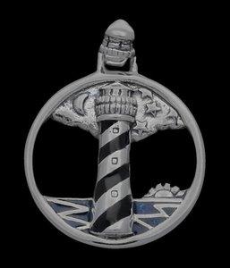 Zilveren Vuurtoren kettinghanger