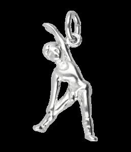 Zilveren Turnen ketting hanger